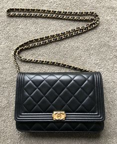 a2ffdc048b601 Chanel Black Quilted Patent Leather Sideways 2.55 Flap Bag Small Tote Purse  NEW