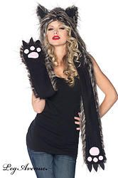 CAPUCHE ECHARPE MOUFLES LOUP  http://www.prod4you.com/#!costumes-deguisements-sexy/c1juw