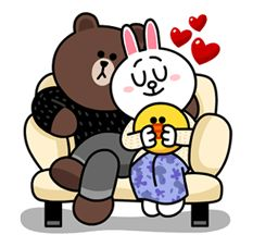 Bunny And Bear, My Teddy Bear, Cute Teddy Bears, Cute Love Pictures, Cute Love Gif, Cony Brown, Brown Bear, Line Cony, Chibi Cat