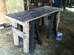 Red Barn Ridge: Barnwood Desk - Complete!