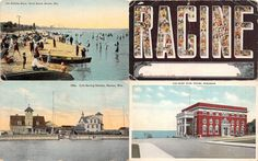 Vintage post cards Racine WI 1900