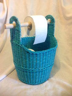 Плетение из бумаги.  Корзина для бумаги .