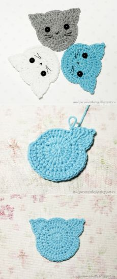 Super cute crochet elephant applique, it is very easy to learn how to create this cutie Mode Crochet, Crochet Home, Crochet Gifts, Diy Crochet, Crochet Squares, Crochet Motif, Crochet Flowers, Crochet Appliques, Crochet Bunting