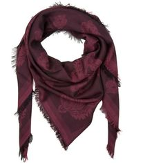 Kenzo Scarf Small Tiger Head Burgundy in red, Scarves & Caps (13,235 INR) ❤ liked on Polyvore featuring accessories, scarves, red, red shawl, kenzo, red scarves, kenzo scarves and burgundy scarves