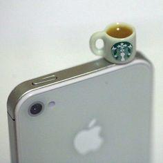 Kawaii STARBUCKS TEA Iphone Earphone by fingerfooddelight on Etsy, $7.50