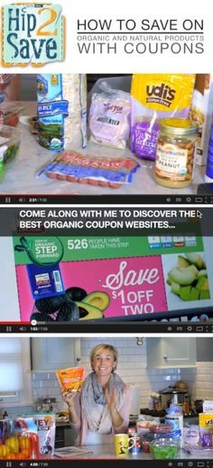 How to save on organic & natural products with coupons by Hip2Save (It's Not Your Grandma's Coupon Site!) [video]