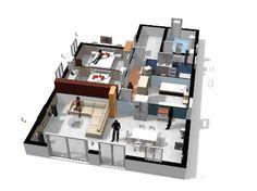 maison DZ042016 plan etage - Homebyme