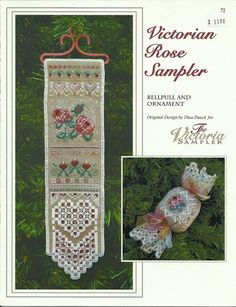 A Victoria Sampler Design  Victorian Rose by GoldenThreadSupplies,