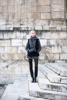Balmuir Helsinki scarf and Chanel mini vintage flap bag