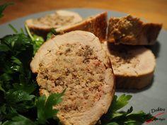Polędwiczki z farszem grzybowo-mięsnym