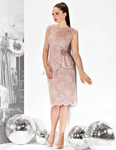 Wholesale Mother Bride - Buy Pink Cap Sleeve Short Beaded Lace Mother of the Bride Dresses Gowns E3107, $129.55 | DHgate