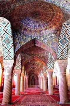 Nasir Al-Molk Mosque, Shiraz, Iran Iran Travel Destinations Islamic Architecture, Beautiful Architecture, Dubai Architecture, Cultural Architecture, Taj Mahal Interior, Palace Interior, Sri Lanka, Pink Mosque, Shiraz Iran