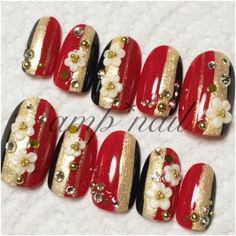 Page Not Found - Dehily Neutral Nail Art, Gold Nail Art, Red And Gold Nails, Gold Glitter Nails, Blue Nail Designs, Best Nail Art Designs, New Years Nail Art, Japanese Nail Art, Chic Nails