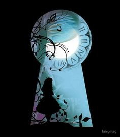 'Alice – Durch das Schlüsselloch' Kunstdruck von fairymag Alice – Through the Keyhole - Popular Disney Crafts Alice In Wonderland Paintings, Alice And Wonderland Tattoos, Tattoo Alice In Wonderland, Wonderland Party, Alice In Wonderland Cartoon, Alice In Wonderland Rabbit, Alice In Wonderland Pictures, Arte Disney, Disney Art