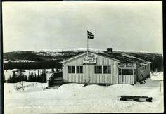 MERÅKER i Nord-Trøndelag  med Grenserasten og vekslingskontor. Br. 1962,