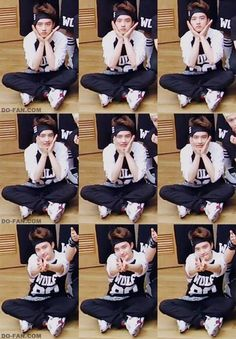 Aww~ Kyungsoo is so cute~ he is a cute squishy~! keke he is so cute that i wanna squish his cheeks and hug him~! keke XOXO D.O Kyungsoo~!