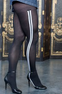 Racer Stripe Pantyhose - I gotta get me some of these soon - they're being discontinued! UPDATE: we are sad to inform you that this style has been discontinued.