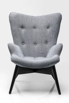 Kare design :: Fotel Angels Wings Salt+Pepper Eco szary, czarny || szare siedzisko, czarne nóżki 79870 | 9design Warszawa