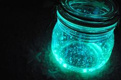 Super easy and cheap way to light up the yard if the party will run into the night.  Cut up glow sticks in the color of choice, stick in a jar and shake.