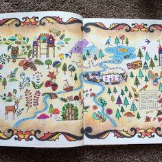 Johanna Basford Enchanted Forest Map Page