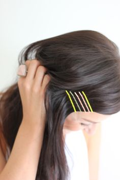 painted bobby pins // diy