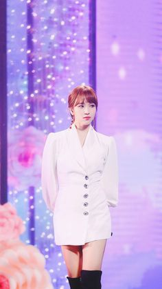 Myoui Mina, One In A Million, Nayeon, Pretty Girls, Chef Jackets, Peplum Dress, Kpop, Celebrities, Collection