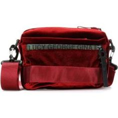 GEORGE GINA /& LUCY Nylon Roots Cooler Umhängetasche Tasche Red Strong Rot