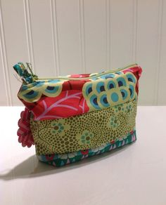 Cameo Quilted makeup bag by PhoebeMade on Etsy, $15.00
