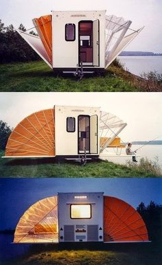 Unique RV: New Meaning to Pop-Outs on a Travel Trailer, my boyfriend is going to love this! He likes little things, i like big...compromise