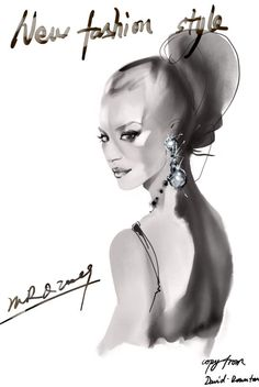 David Downton  #Fashion #Illustration
