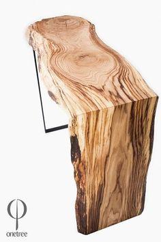 Konsola z drewna dębu 017. - Onetree - Pozostałe