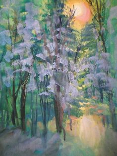 IMPRESSIONISM MILLIE GIFT SMITH Landscape 2000-now Signed Original Winter  #MediumUpto30in