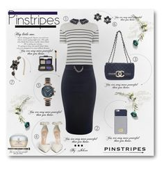 """""""Perfect Pinstripes"""" by jelenalazarevicpo ❤ liked on Polyvore featuring Oasis, Marni, Victoria Townsend, GUESS, Michael Kors, Shiseido, It Cosmetics, NARS Cosmetics and Estée Lauder"""