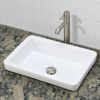 DECOLAV's Classically Redefined® 1453 Semi-Recessed Rectangular Lavatory is designed to be incorporated into the countertop. The lavatory features a low profile with a deep basin.
