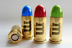 What if famous brands branched out into other products? - M&M's candy coated bullets