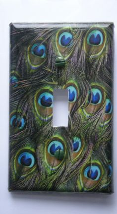 Peacock Feathered Decorative Light Switch Cover  by Nikalette, $7.00