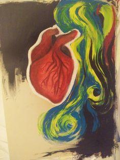 Something, acrylic on paper