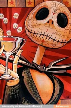 """Lowbrow Art Company Jack Skeleton """"Jack Celebrates the Dead"""" art print by artist Mike Bell. All art prints are printed are printed on heavy weight, 100lb semi gloss cover stock. All prints are individ"""