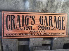 Man Cave Garage Gifts : Personalized round hiding out since metal garage sign