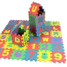 36 pcs Baby Kids Alphanumeric Educational Puzzle Blocks Infant Child Toy Gifts