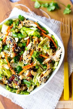 This cleaned up restaurant style Paleo Chinese Chicken Salad is off the charts!!