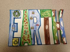 We finished our neato-keeno {Earth Day flip books} by {Anna at Simply Skilled in Second} They came out so great!