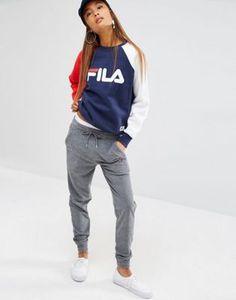 Fila - Pantalon de survêtement boyfriend style baggy