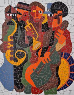 """Quadro """"A Banda"""" todo feito em mosaico cerâmico!!!"""