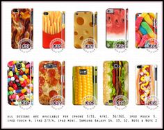 Food Design Case  For iPhone 5 5S 4 4S 3G 3GS by caseaddiction, $13.00