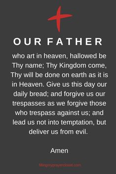 Our Father - here's why it's such a perfect prayer. #atozchallenge #prayer #catholic @Cristina