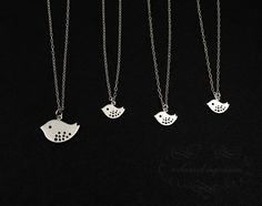 Mother Daughter Necklace Set . 4 Sisters Jewelry Friendship Set . Sterling Silver . FOUR MATCHING NECKLACES . Three Kids . Best Friends Gift via Etsy
