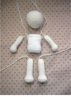 Basic Crochet Doll Amigurumi - Free Pattern http://es.scribd.com/doc/99920769/Basic-Crochet-Doll  or here: http://byhookbyhand.blogspot.com.es/2010/02/from-my-archives.html