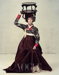 Vogue Korea hanbok and portable dining tables with Doggy Legs