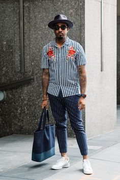Street style at New York Fashion Week Men's Spring 2018